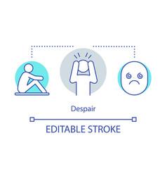 Despair concept icon vector
