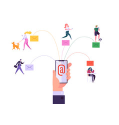 digital email media marketing concept promotion vector image