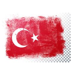 distressed grunge flag turkey vector image