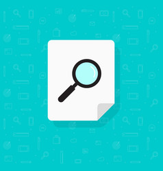 Document search icon flat cartoon paper vector