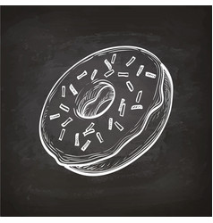 Donut sketch on chalkboard vector