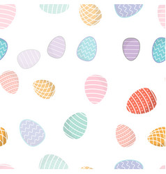 easter seamless pattern colored eggs with vector image