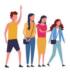 Faceless group people vector