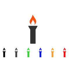 fire torch icon vector image