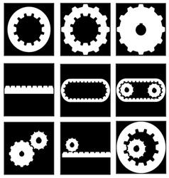 Gear collection icon vector