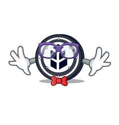 Geek bancor coin character cartoon vector