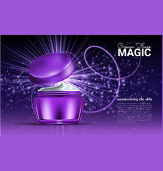 glass jar for design on a purple background vector image