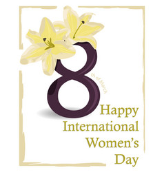greeting card of happy womens day vector image