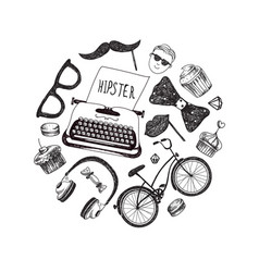 hipster style infographics elements and vector image