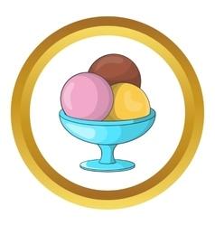 Ice cream balls icon vector