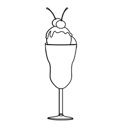 ice cream icon image vector image