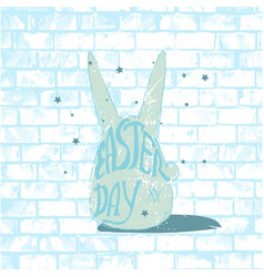 in shape a rabbit with vector image
