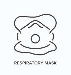industrial respirator line icon outline vector image