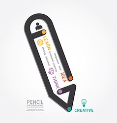 infographics pencil design diagram line vector image