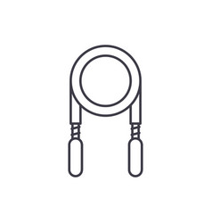jump rope line icon concept jump rope vector image