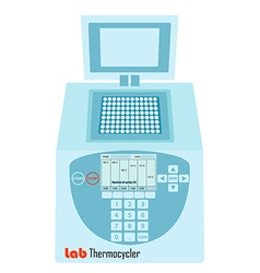 lab pcr thermal cycler vector image