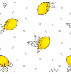 Lemons seamless pattern for design vector