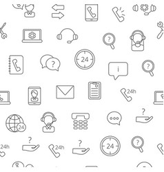 Line call support center icons pattern or vector