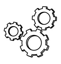Line industry gears engineering technology process vector