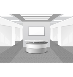 Lobby or reception interior vector image