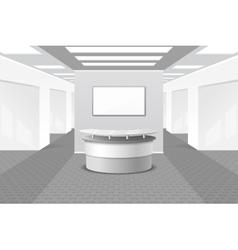 Lobor reception interior vector