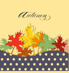 maple leaf in bright autumnal colors background vector image
