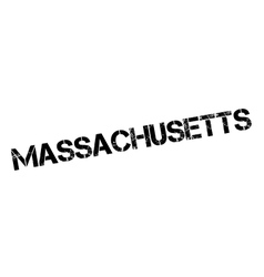 Massachusetts rubber stamp vector