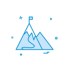 mountain flag icon design vector image