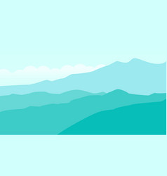 mountain landscape with cloud vector image