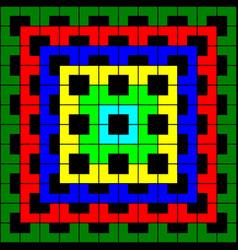multi-color geometric pattern on black background vector image