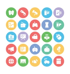 Multimedia Colored Icons 5 vector