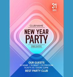 new year party flyer design template vector image