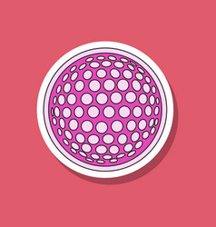 Paper sticker on stylish background golf ball vector