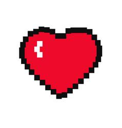 pixel heart icon vector image