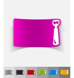 Realistic design element opener vector