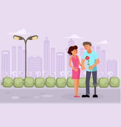 romantic relationships of disabled people vector image