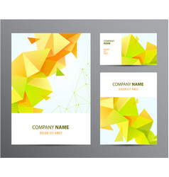 set brochure business card cover vector image