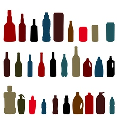 Set of bottles vector
