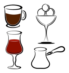 Set of desserts eps10 vector image