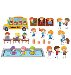 set student activity vector image