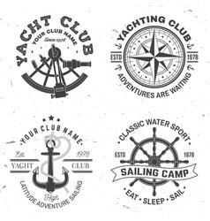 Set summer sailing camp badge concept vector