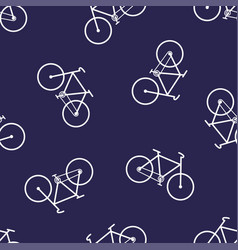 simple pattern with bicycle vector image