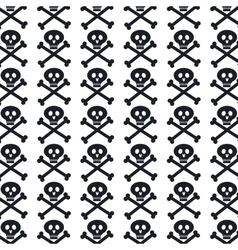 Skull pattern background icon vector
