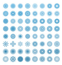 snowflakes in white background vector image