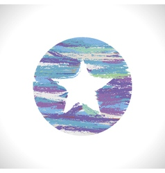 Star with white background vector