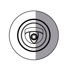 sticker of monochrome contour of video security vector image vector image
