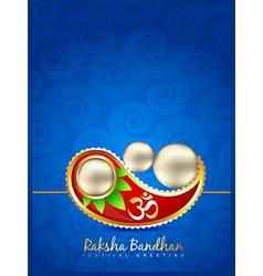 Stylish rakhi background vector