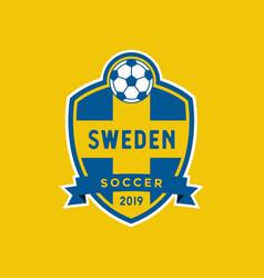 Sweden flag championship soccer crest vector