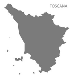 toscana italy map grey vector image