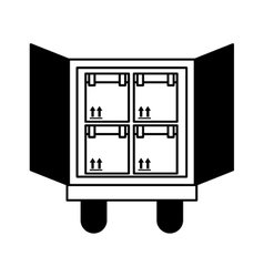 truck delivery vehicle icon vector image